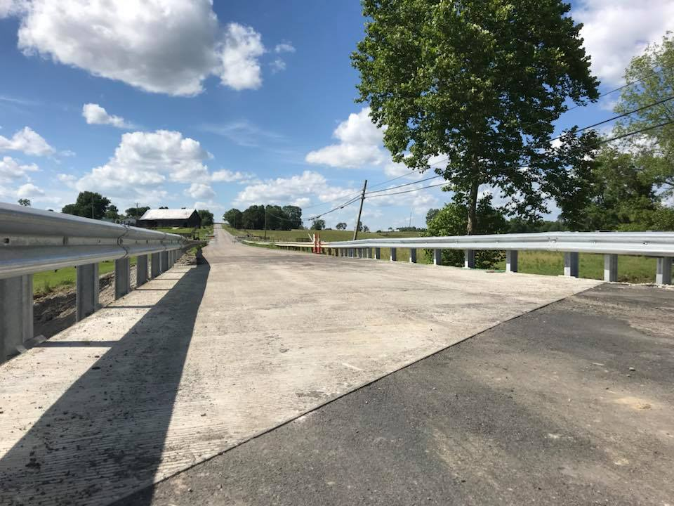 Work on KY 111 bridge over Hillsboro Creek in Fleming County complete, road open